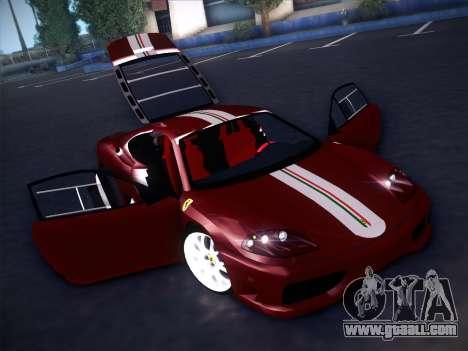 Ferrari 360 Challenge Stradale for GTA San Andreas upper view