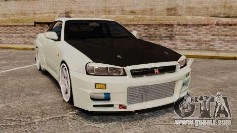 Nissan Skyline GT-R V-Spec II Mk.X [R34] for GTA 4