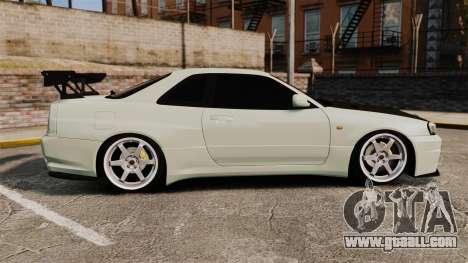 Nissan Skyline GT-R V-Spec II Mk.X [R34] for GTA 4 left view