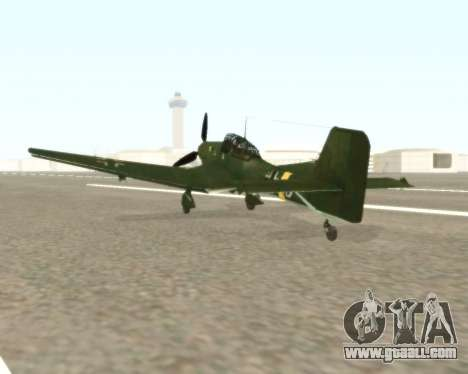 Junkers Ju-87 Stuka for GTA San Andreas back left view