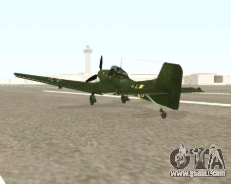 Junkers Ju-87 Stuka for GTA San Andreas back left view