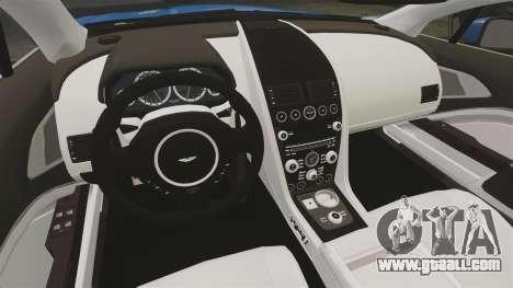 Aston Martin Rapide 2010 for GTA 4 inner view