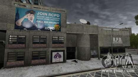 Police station, Raccoon for GTA 4