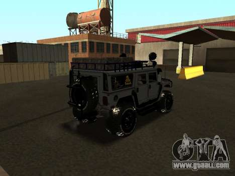 Hummer H1 Offroad for GTA San Andreas back left view