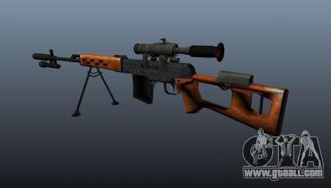 Dragunov sniper rifle A&K for GTA 4 second screenshot