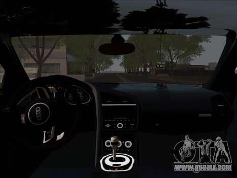 Audi R8 V10 Plus for GTA San Andreas upper view