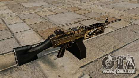 The M249 light machine gun Camo for GTA 4 second screenshot