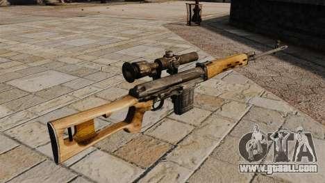 Dragunov sniper rifle for GTA 4 second screenshot