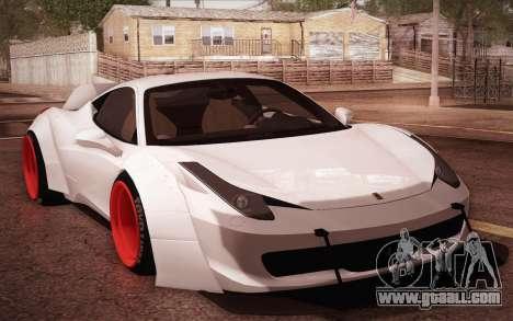 Ferrari 458 Italia Liberty Walk LB Performance for GTA San Andreas