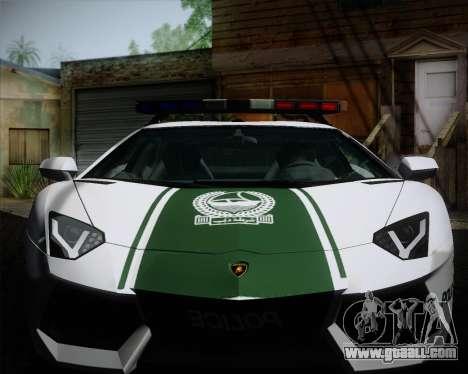 Lamborghini Aventador LP700-4 2012 RCPD V1.0 for GTA San Andreas inner view