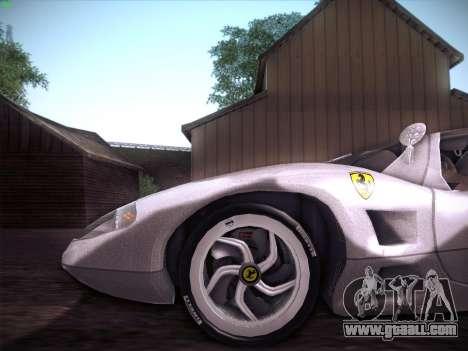 Ferrari P7 Chromo for GTA San Andreas inner view