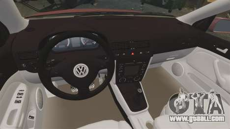 Volkswagen Bora VR6 2003 for GTA 4 inner view