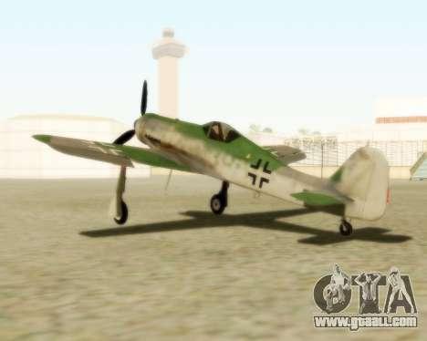 Focke-Wulf FW-190 D12 for GTA San Andreas left view