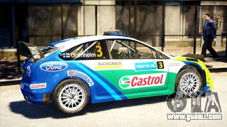 Ford Focus RS M Gronholm Rally Finland WRC for GTA 4 left view