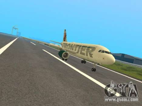 Airbus A319-111 Frontier Airlines Red Foxy for GTA San Andreas left view