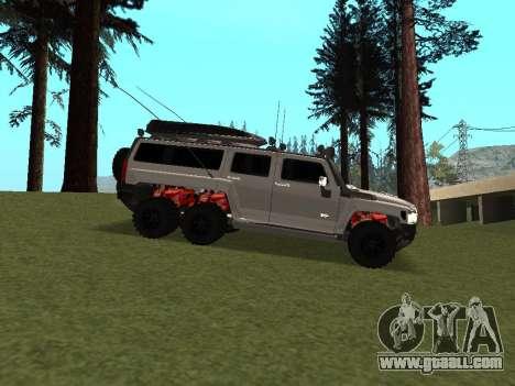 Hummer H3 6x6 for GTA San Andreas back view