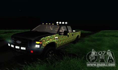 Ford F-250 Realtree Camo Lifted 2010 for GTA San Andreas left view