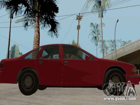Chevrolet Caprice 1991 for GTA San Andreas upper view