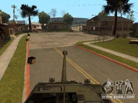 M18-Hellcat for GTA San Andreas inner view
