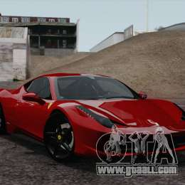 Ferrari 458 Italia 2010 for GTA San Andreas right view