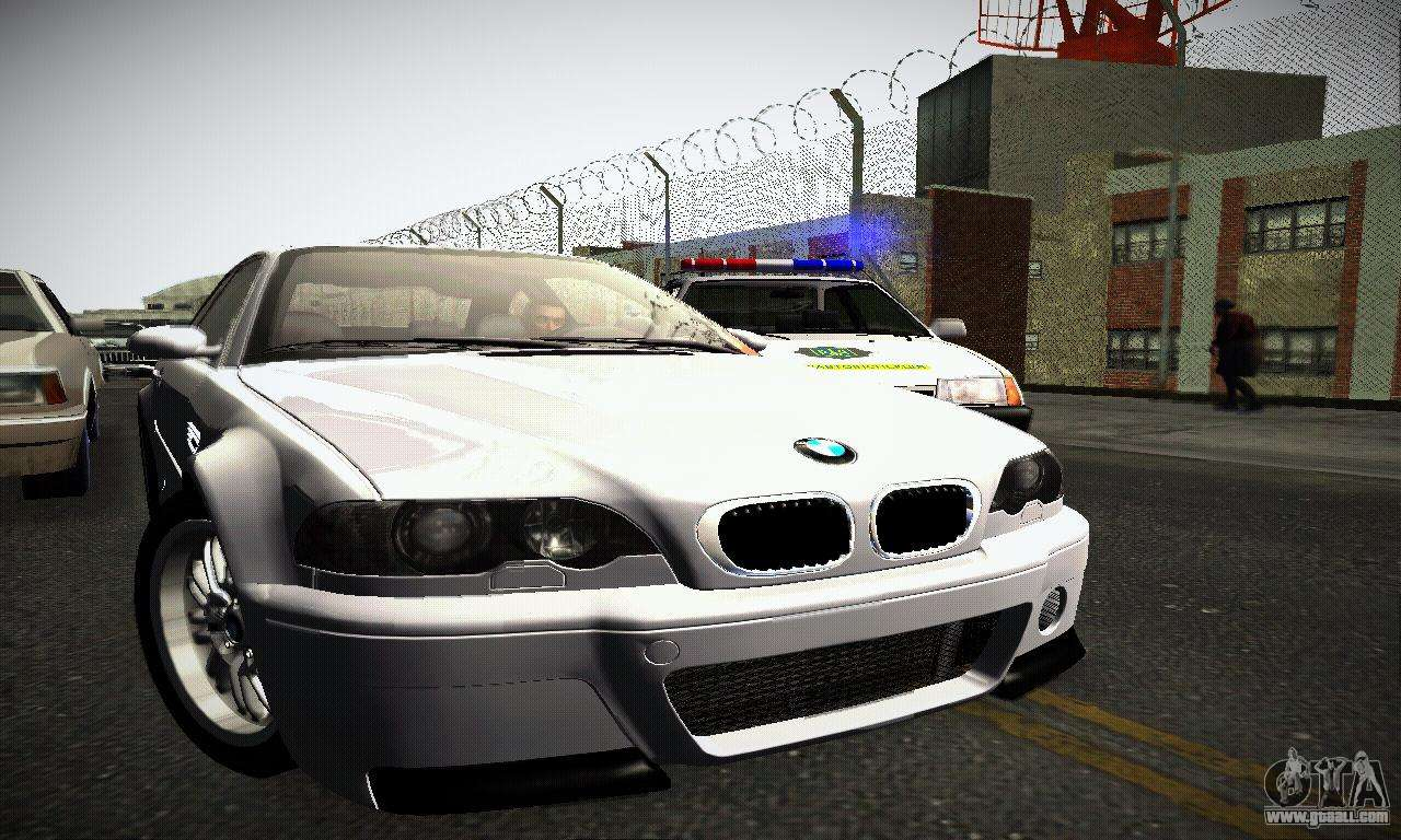 bmw e46 m3 csl for gta san andreas. Black Bedroom Furniture Sets. Home Design Ideas