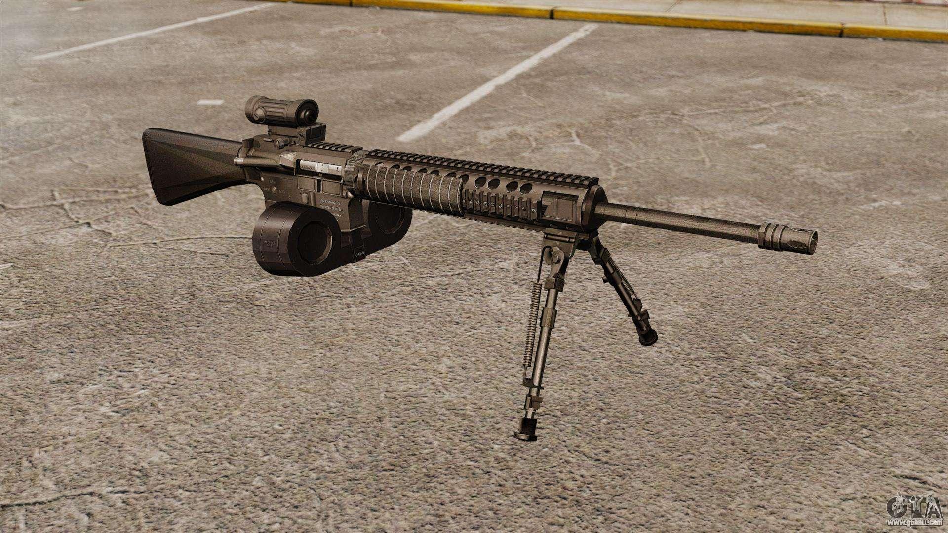 Assault rifle M16A4 C-MAG Scope for GTA 4 M16a4 Assault Rifle
