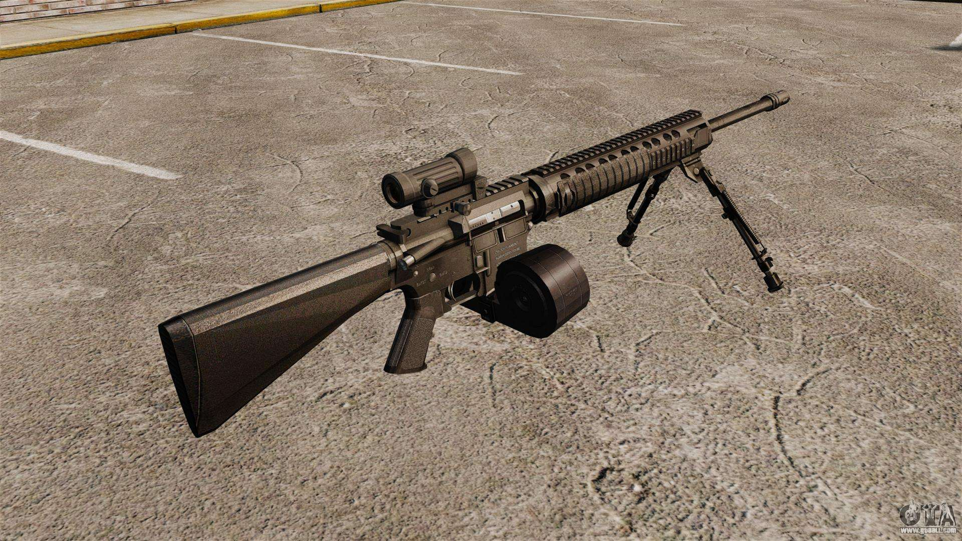 Assault rifle M16A4 C-MAG Scope for GTA 4