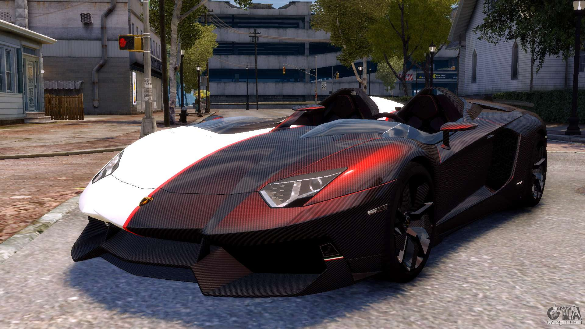 lamborghini aventador j 2012 carbon for gta 4. Black Bedroom Furniture Sets. Home Design Ideas