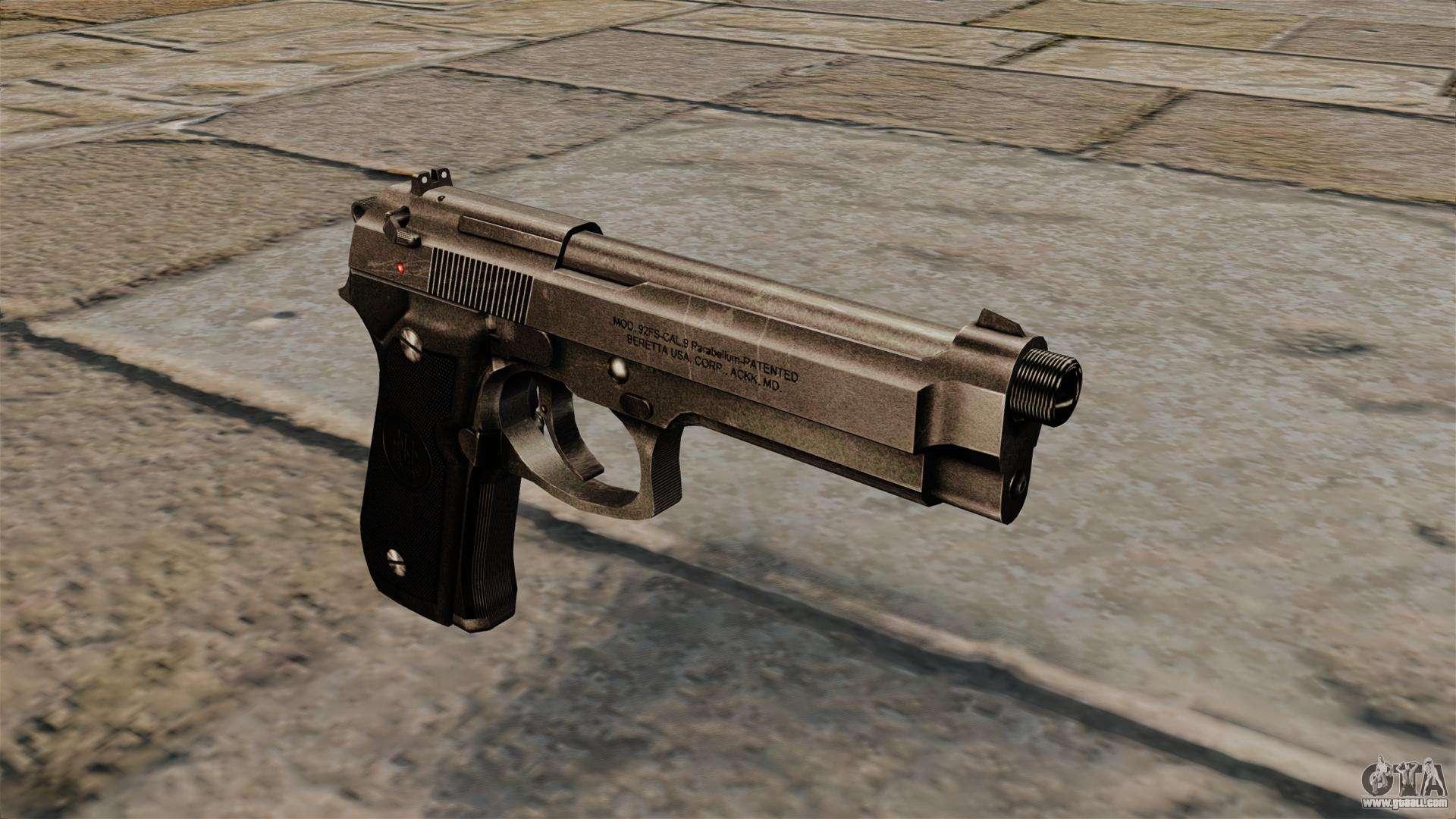 Beretta 92 semi-automatic pistol for GTA 4