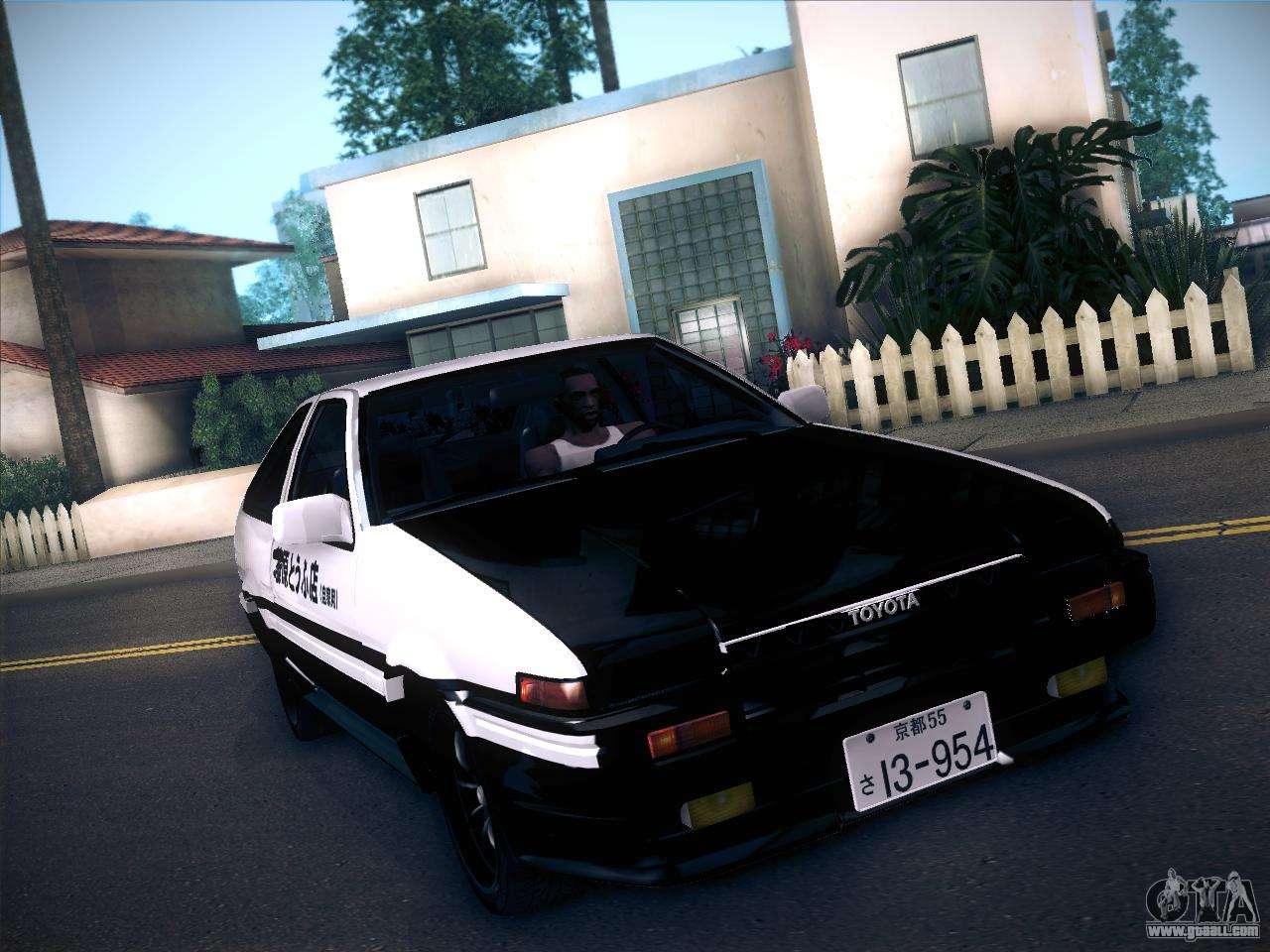 Toyota Trueno for GTA San Andreas - GTAallcom