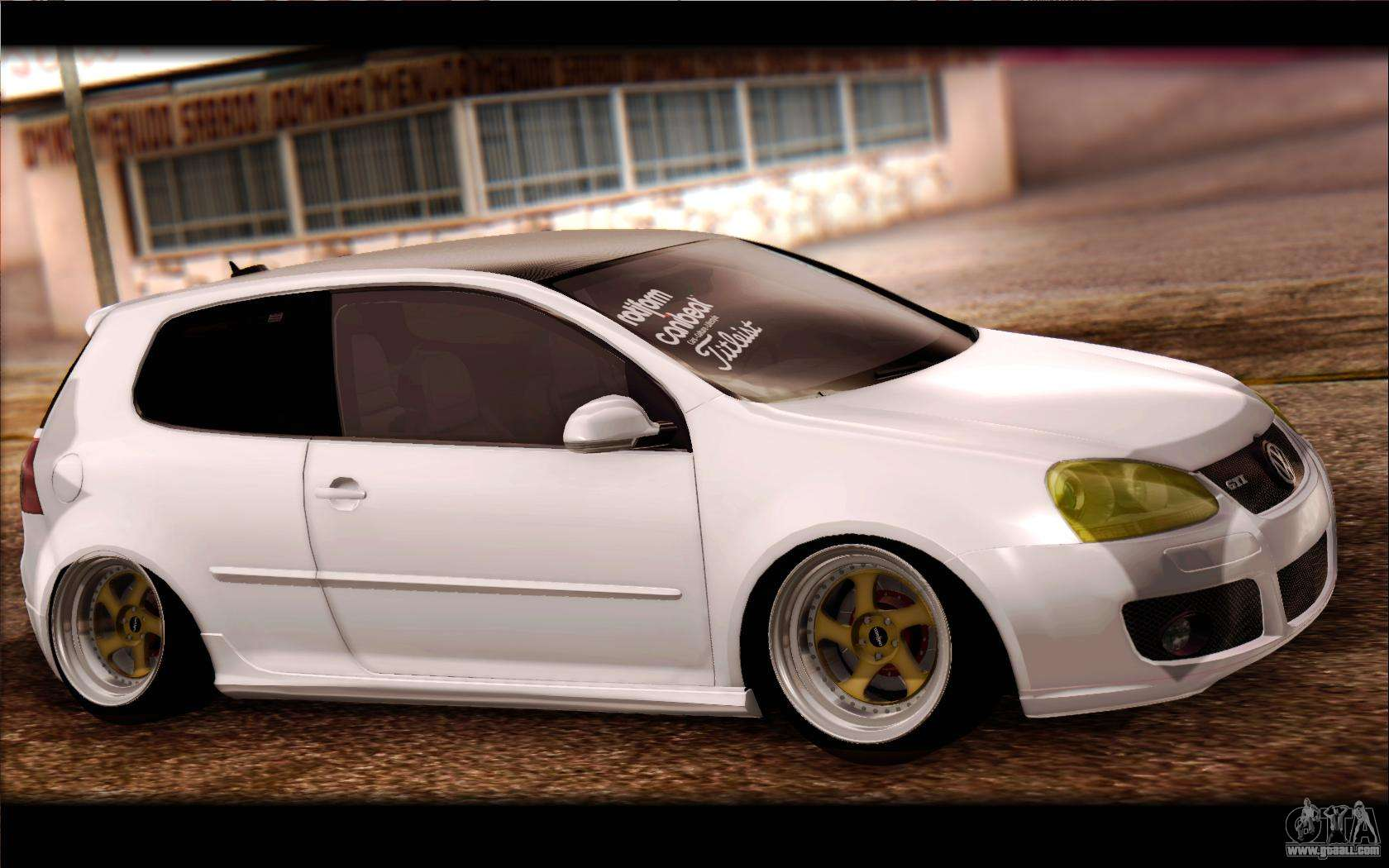 volkswagen golf mk5 lowstance for gta san andreas. Black Bedroom Furniture Sets. Home Design Ideas