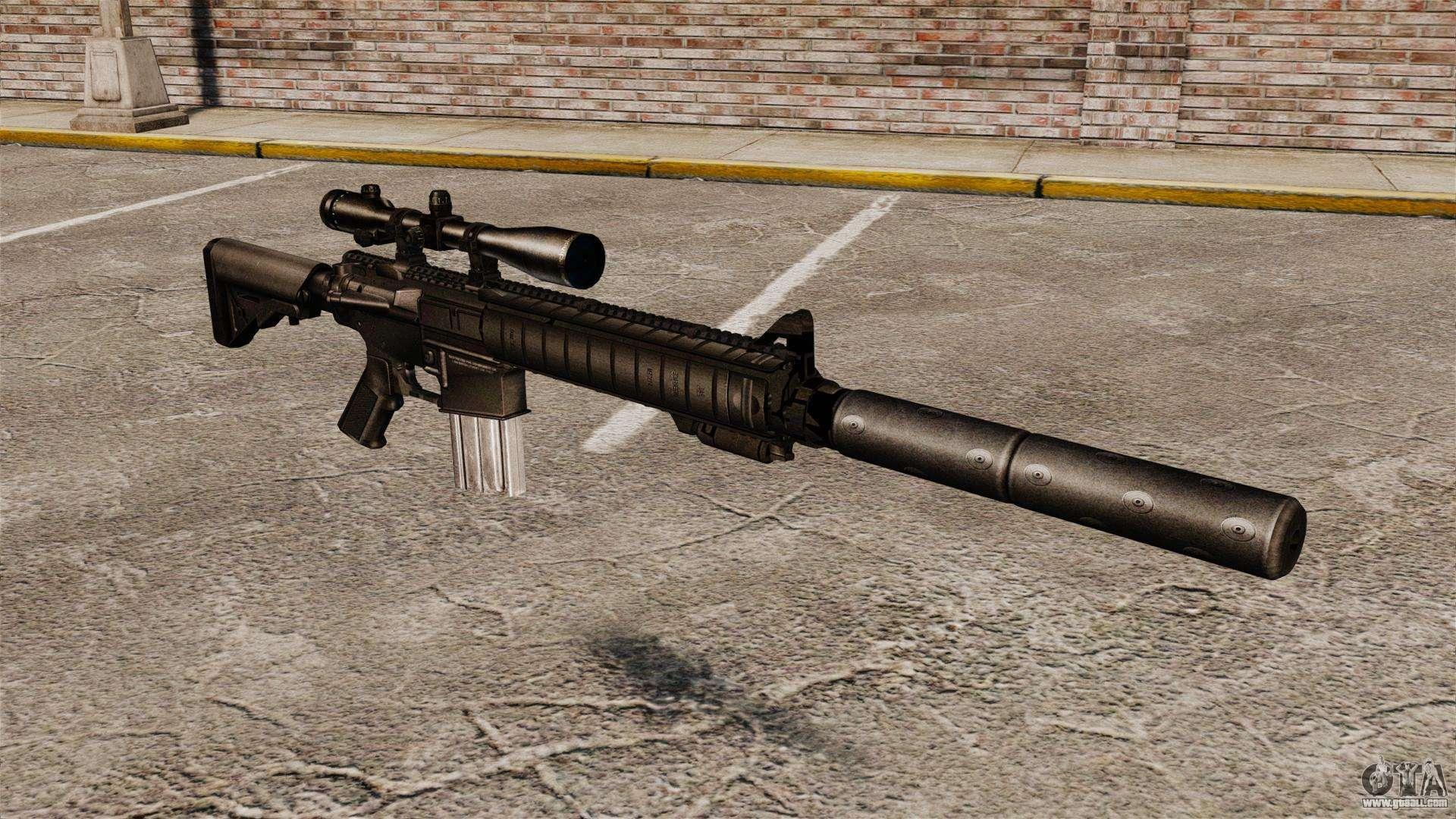 The SR-25 sniper rifle for GTA 4 M110 Sniper Rifle Suppressed
