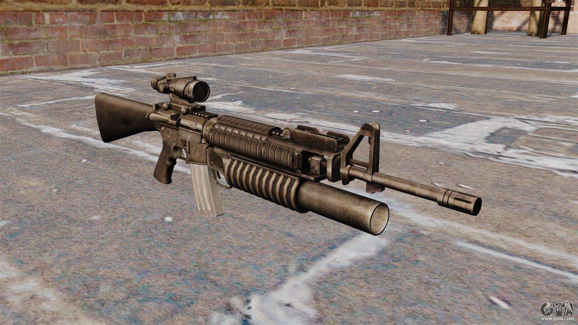 The M16A4 assault rifle for GTA 4 M16a4 Assault Rifle
