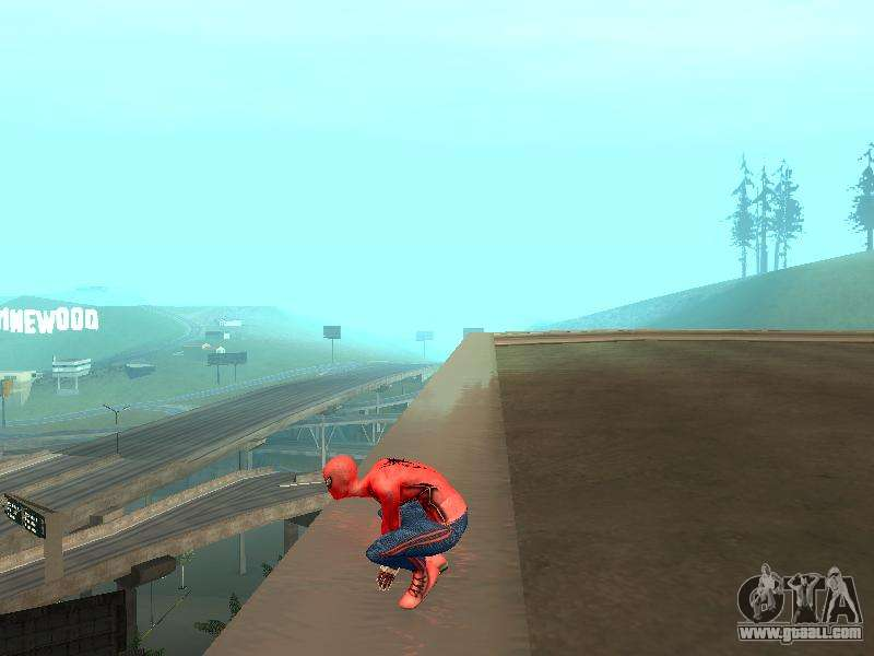 Crouch as the amazing Spider-man for GTA San Andreas