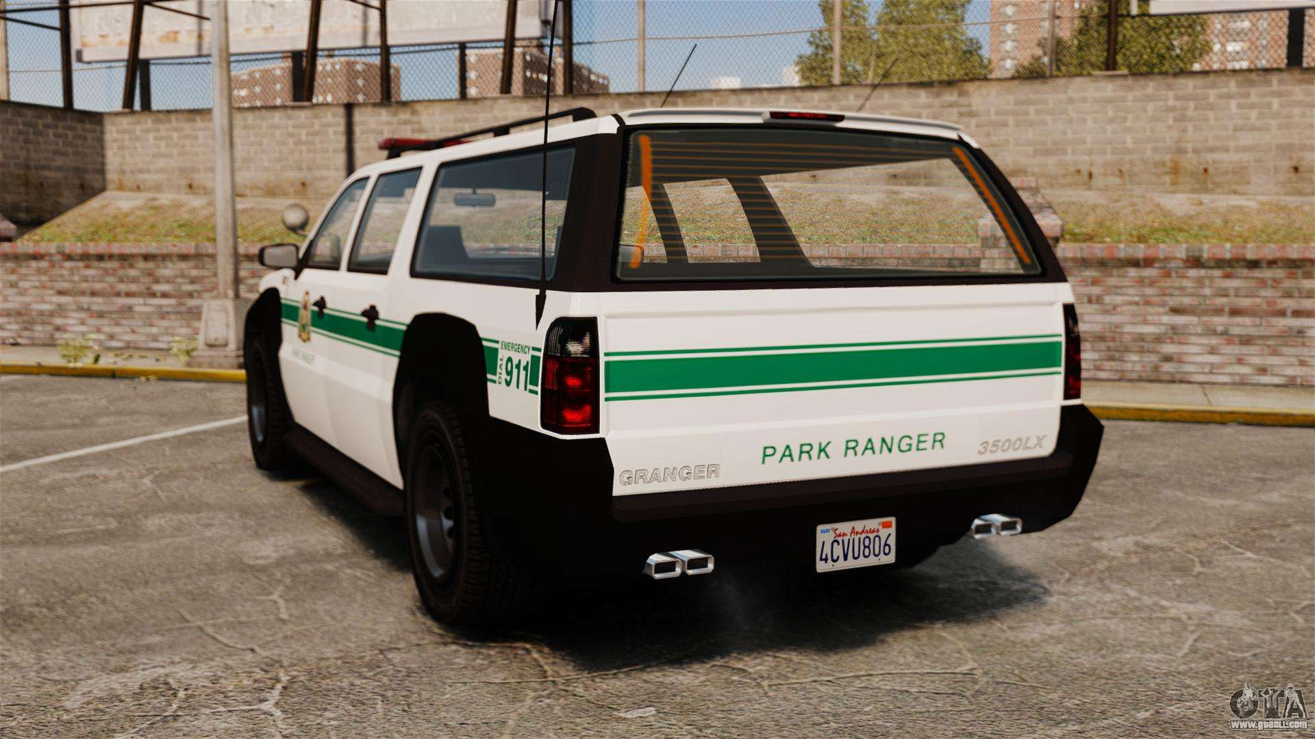 gta v declasse granger park ranger for gta 4 back left view - Gta 4 Secret Cars Locations Xbox 360