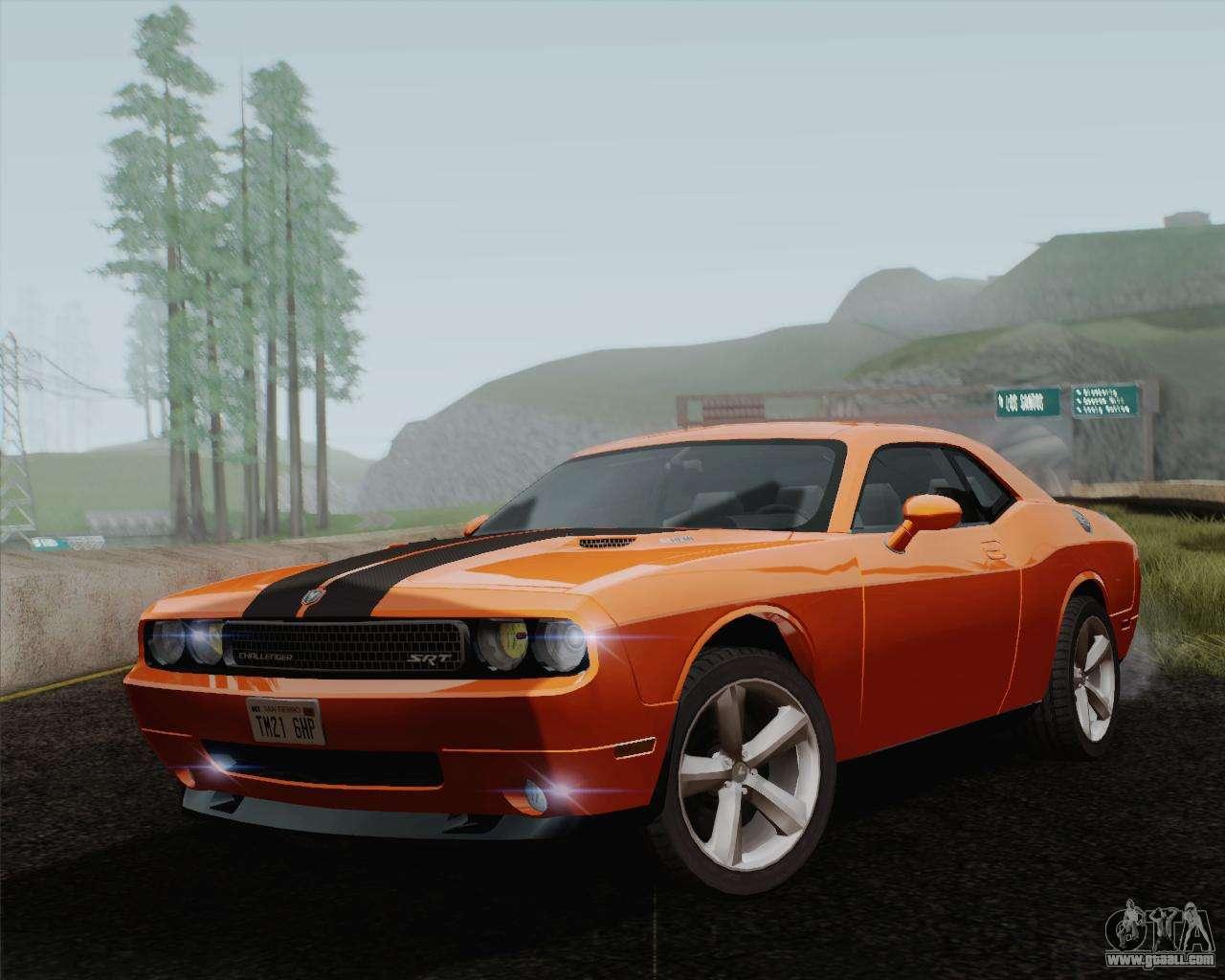 Dodge Challenger Srt 8 2010 For Gta San Andreas