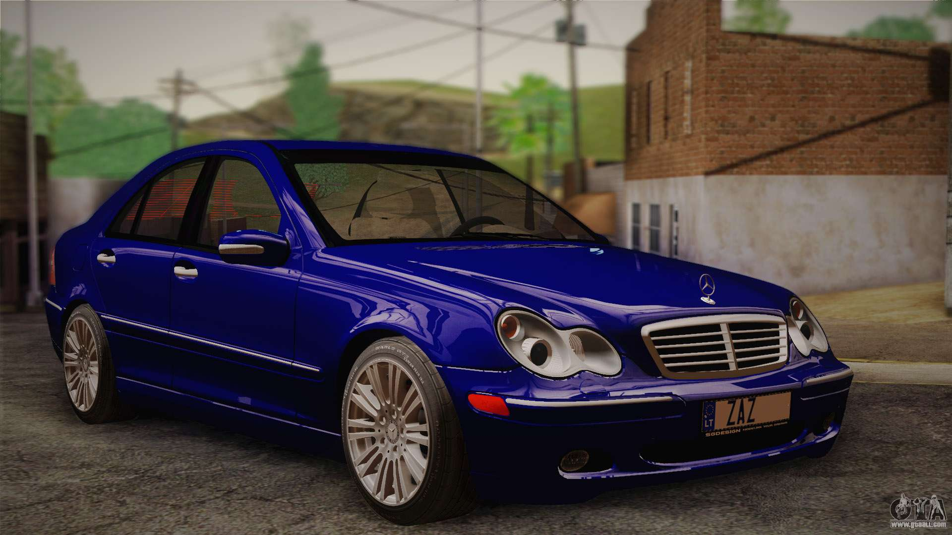 mercedes benz c320 elegance 2004 for gta san andreas. Black Bedroom Furniture Sets. Home Design Ideas