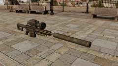 Barrett M82A1 sniper rifle with a silencer