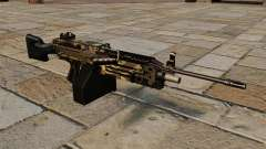 The M249 light machine gun Camo