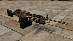 The M249 light machine gun Camo