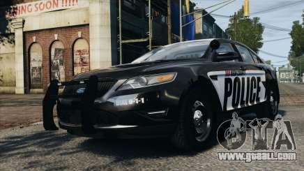 Ford Taurus Police Interceptor 2010 for GTA 4
