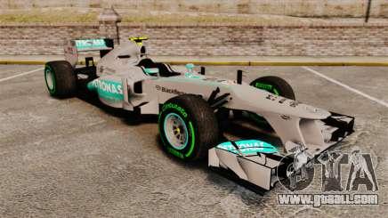 Mercedes AMG F1 W04 v4 for GTA 4