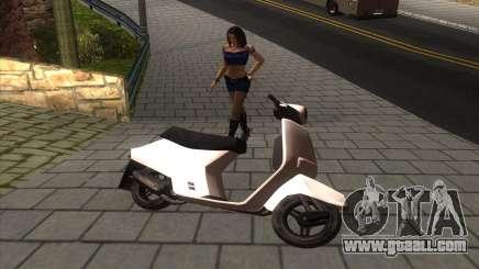 Honda Tact AF-16 WHITE for GTA San Andreas