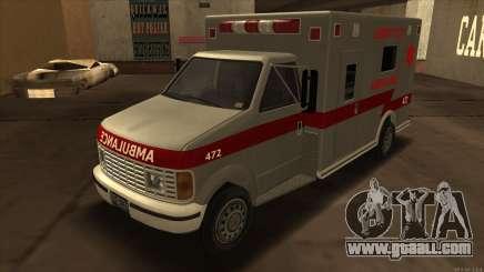 Ambulance HD from GTA 3 for GTA San Andreas