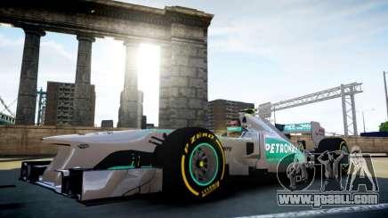 Mercedes F1 W04 (Airtug) for GTA 4