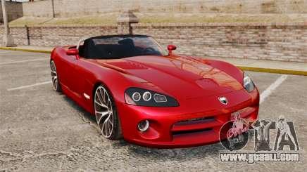 Dodge Viper SRT-10 2003 for GTA 4