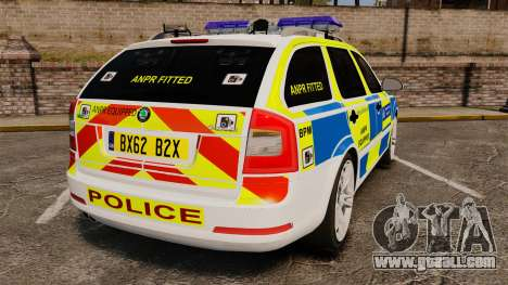 Skoda Octavia RS Metropolitan Police [ELS] for GTA 4 back left view