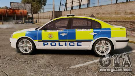 Skoda Superb 2006 Police [ELS] Whelen Justice for GTA 4 left view
