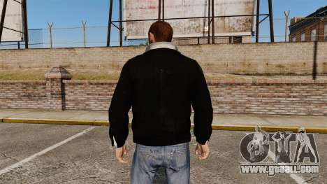 Black leather jacket for GTA 4 second screenshot