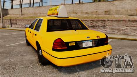 Ford Crown Victoria 1999 NY Old Taxi Design for GTA 4 back left view